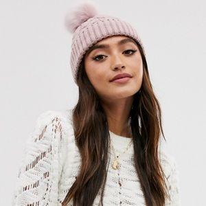 J. Crew Pink knit Beanie
